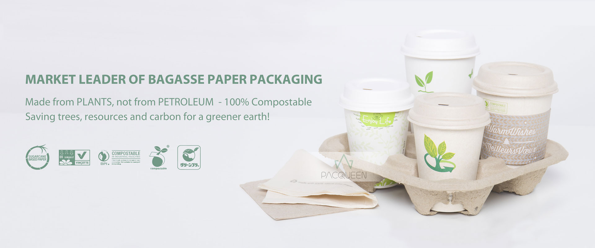 Pacqueen | food packaging paper/plastic pouches, bags, cups and